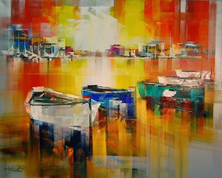 Beautiful Abstract Palette Knife Paintings by Josep