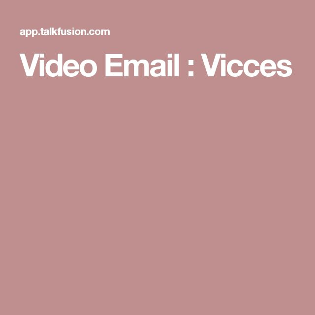Video Email : Vicces