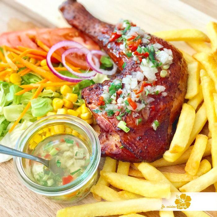 Poulet boucan sauce chien cuisine antillaise - Cuisine creole antillaise ...