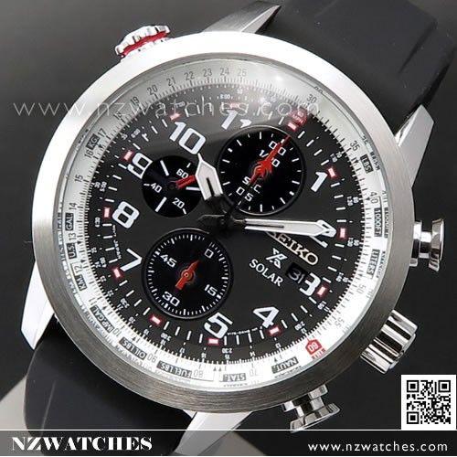 Seiko Prospex Sky Chronograph Solar Pilots Watch SSC351P1, SSC351