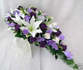 Purple with lillies and roses
