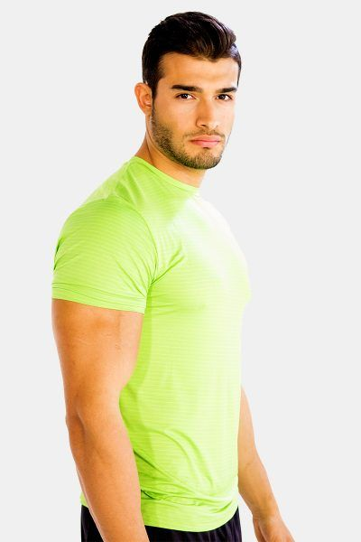 Look funky and vibrant in this bright neon green half sleeve #tee #shirt. Get it today at 25% OFF!! at Alanic Activewear.