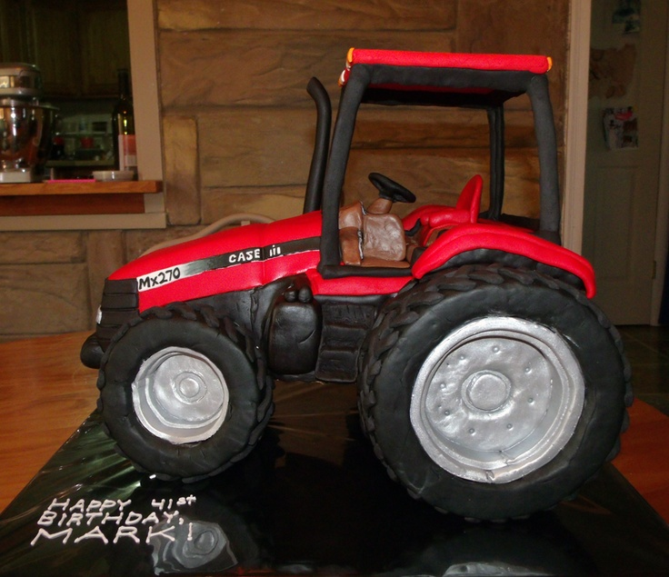 3D Case Tractor Cake