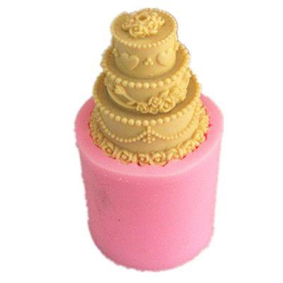 Купить товар3 слой торта свеча формы силиконовые мыло формы свечи плесень свеча прессформы в категории  на AliExpress.  Описание           Готовые размеры (см): 5.1x5.7  Готовой Вес (г): 142  Может быть использован для DI