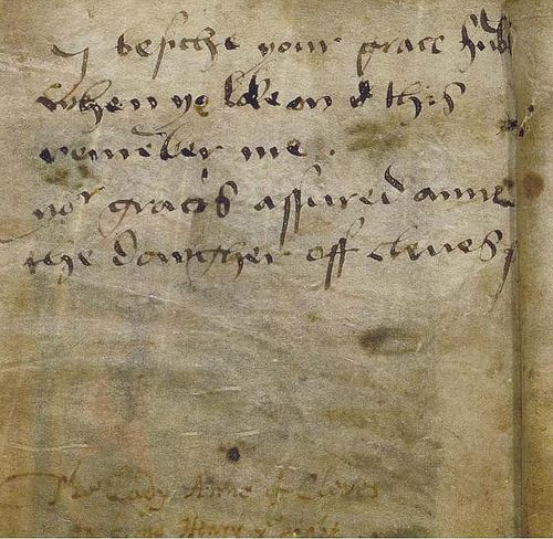Anne of Cleves' message to Henry VIII                                                                                                                                                                                 More