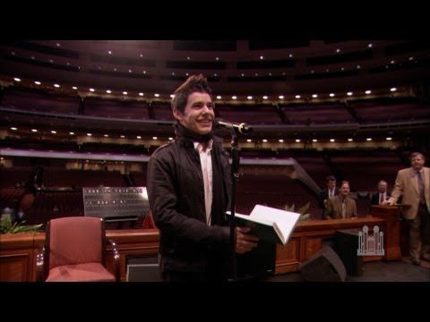 "David Archuleta Sings ""Be Still My Soul"" for the Mormon Tabernacle Choir"