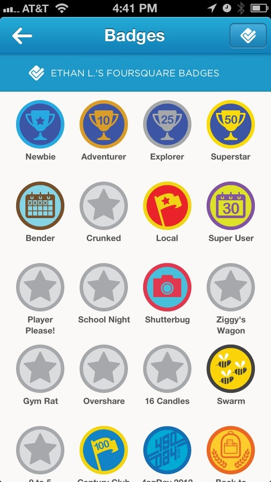 The Badges System In Foursquare Badge Level System
