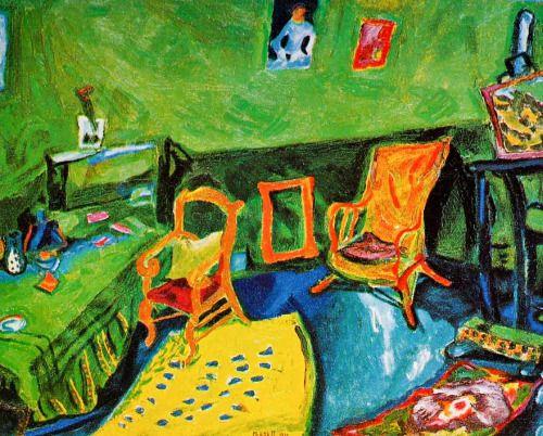 L'atelier à la Ruche , Paris - Marc Chagall , 1910 Russian, 1887-1985 Oil on canvas, 60,4 x 73 cm Musée National d'art moderne, Paris
