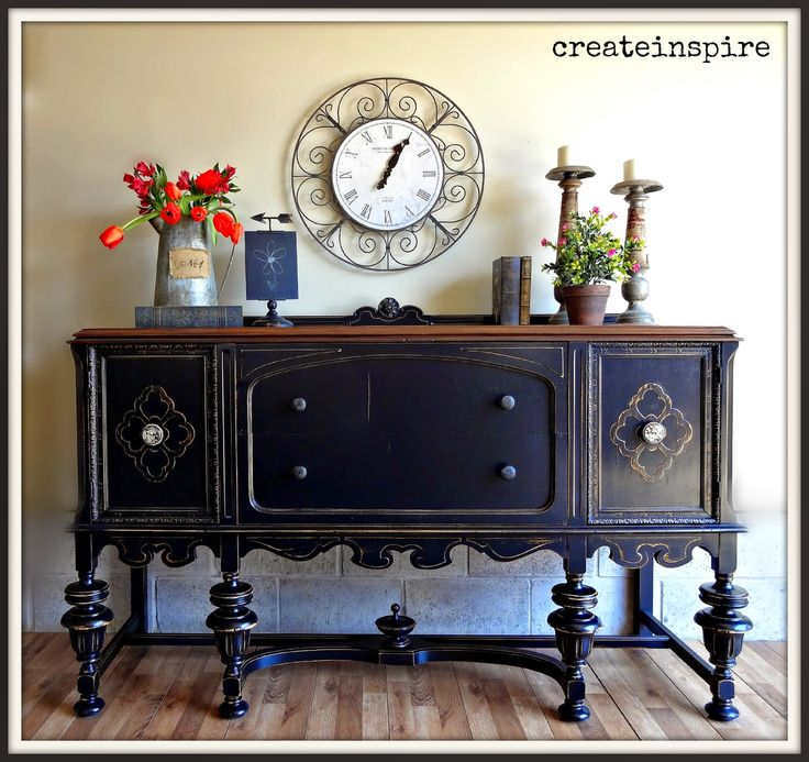 This Gorgeous Antique Buffet Belonged To The Same Set Of Depression Era Hutch I Just Refinished Two Beautiful Pieces Furniture