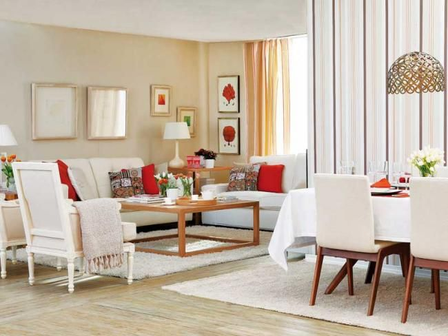 Living Room And Dining Combined Ideas Sample