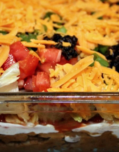 Seven layer taco dip, Taco dip and 7 layers on Pinterest