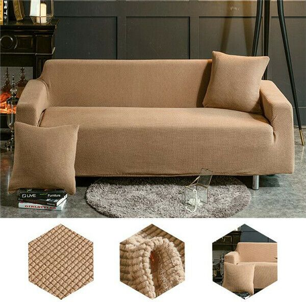 1 4 Seats Universal Sofa Couch Cover Stretch Slipcover Easy Fit Sofa Protector Sofa Slipcover Sofasl In 2020 Fabric Sofa Cover Couch Covers Slipcovers Couch Covers