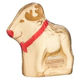 Hollow milk chocolate reindeer, a perfect stocking filler this Christmas.