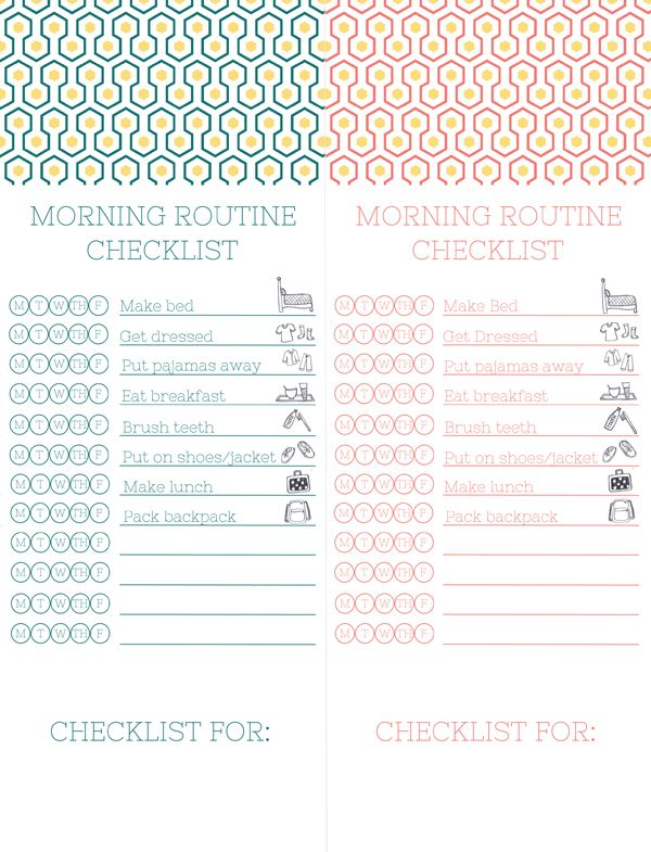 Morning checklists