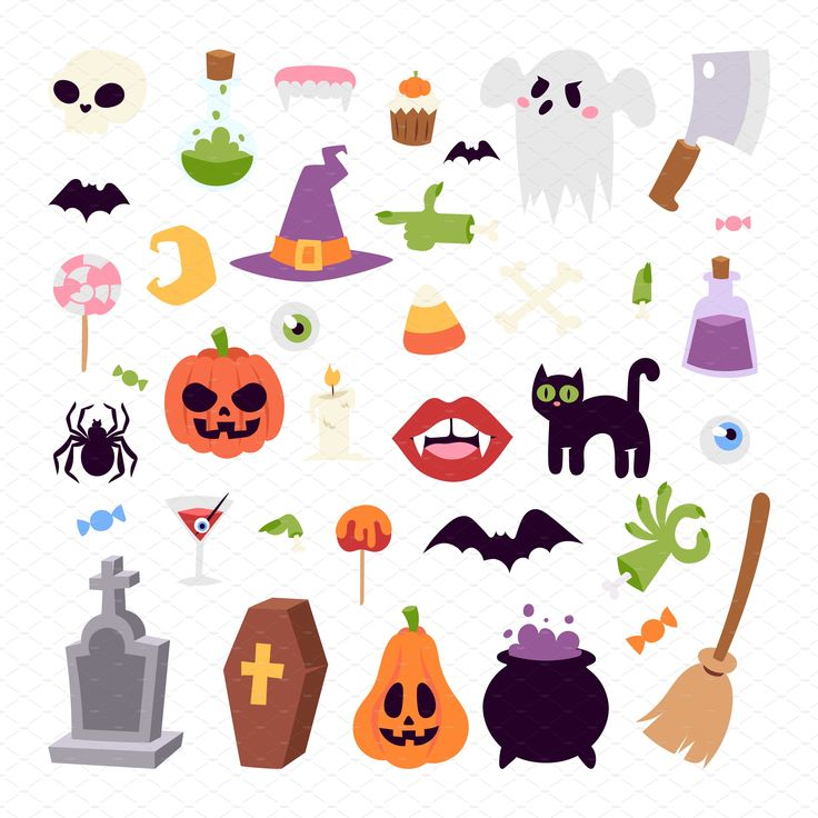 Halloween symbols vector collection by Vectorstockersland on @creativemarket