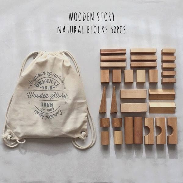 Perfection! Wooden Story blocks - touch them, smell them, enjoy them!