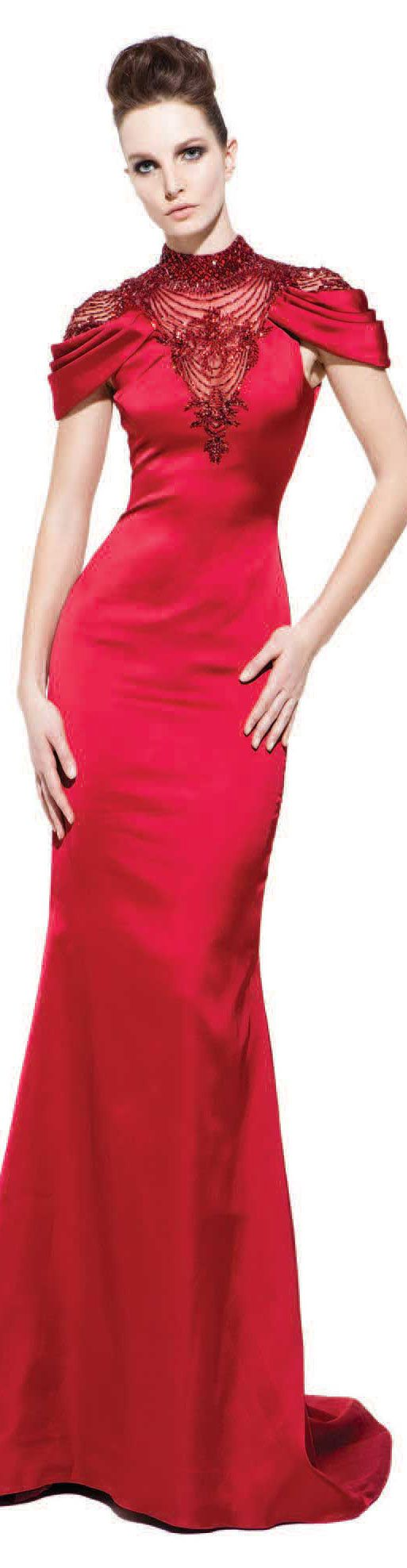 PAVONI Collection - Fall/Winter 2012 #long #red #dress