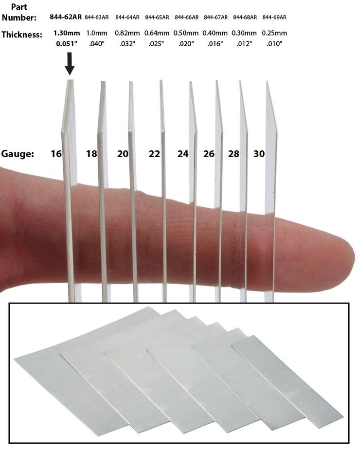 "Argentium Silver Sheet Metal - Price Per 6"" x 1"" Piece | OttoFrei.com"