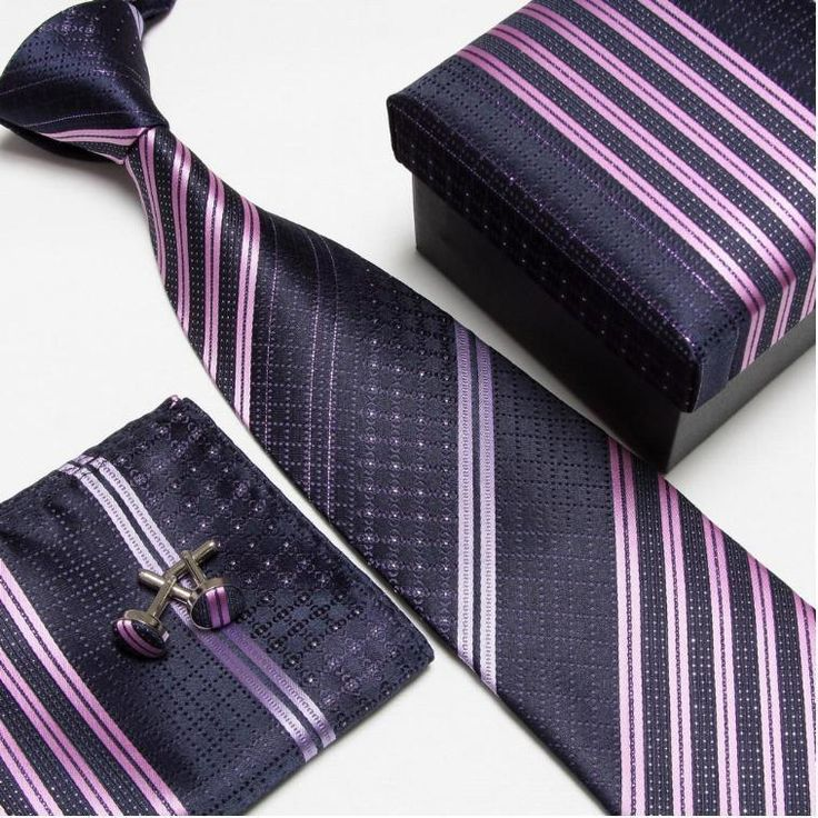 Neck tie set neckties cufflinks hanky high quality ties cuff links Striped Pocket square Handkerchiefs #8Deep discounts on over 300 products that enhance your life from day to day! Items for men and women of all ages, also teenagers. Take a look at our #jewelry #handbags #outerwear #electronicaccessories #watches #umbrellas #gpspettracker  #sunglasses #Songbirddeals #Purses