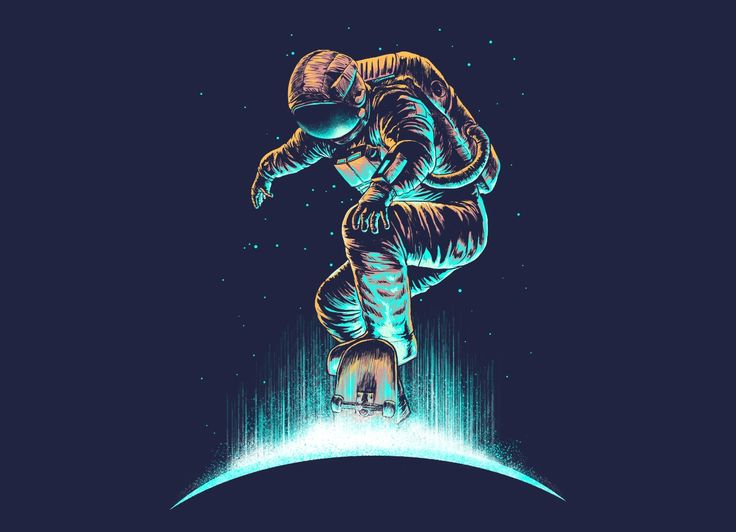 spaceman tee shirt design