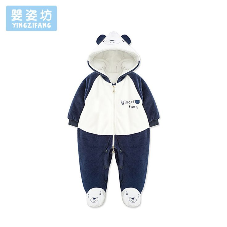 Winter Baby Rompers Cartoon Bear Hooded Newborn Costume Long Sleeve Cute Infantil Boy Girl Jumpsuit Soft Baby Romper