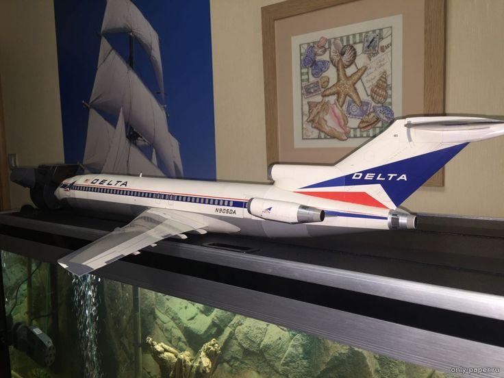 Boeing 727-200 Delta 1:48 3-D PAPER Inc. USA - Как сделать модели из бумаги и картона своими руками - Форум