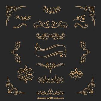 Ornamentos de ouro
