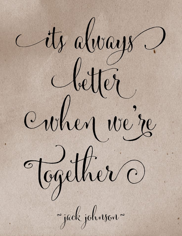 It's always better when we're together by Jack Johnson lyrics #etsy shop Words when Spoken, customized background color