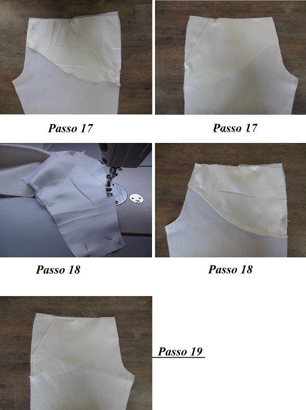 Montagem do bolso faca dianteiro de calça de alfaiataria feminina