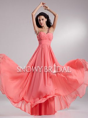 Formal A-Line With Straps Summer Ruched Garden bridesmaid gown - US$ 93.99 - Style B1931 - Snowy Bridal