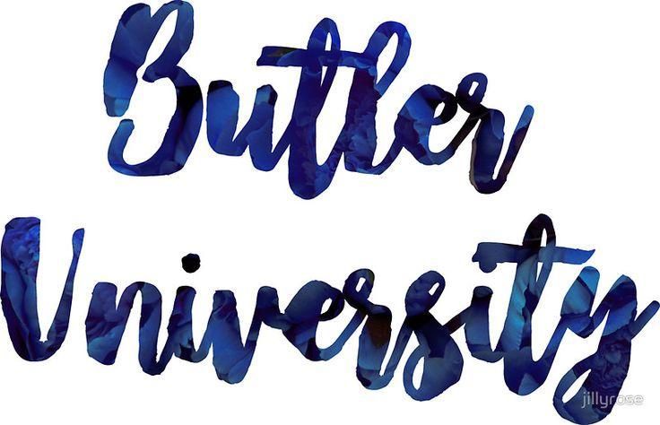 Butler University ~floral text~
