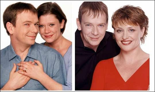 Ian and Laura Beale and Ian and Jane Beale played by Adam Woodyatt, Hannah Waterman and Laurie Brett.