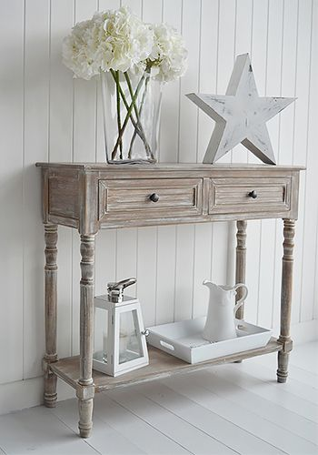 Richmond coastal cottage furniture for hall. Range of shabby chic cottage style furniture for your living room and hall
