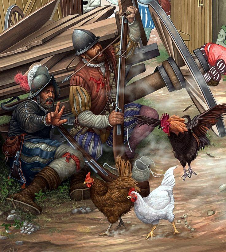Ángel García Pinto - Arcabuceros españoles en la Batalla de San Quintín (1557)