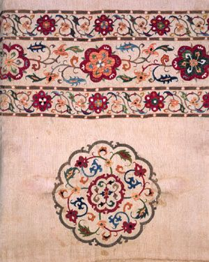 Medieval Embroidery Designs | ... ; Eastern Iran or Afghanistan, 14th century; Polychrome embroidery