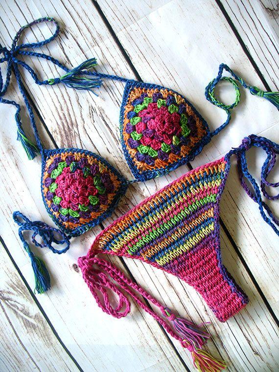 Crochet bikini Crochet swimwear Crochet bathing suit