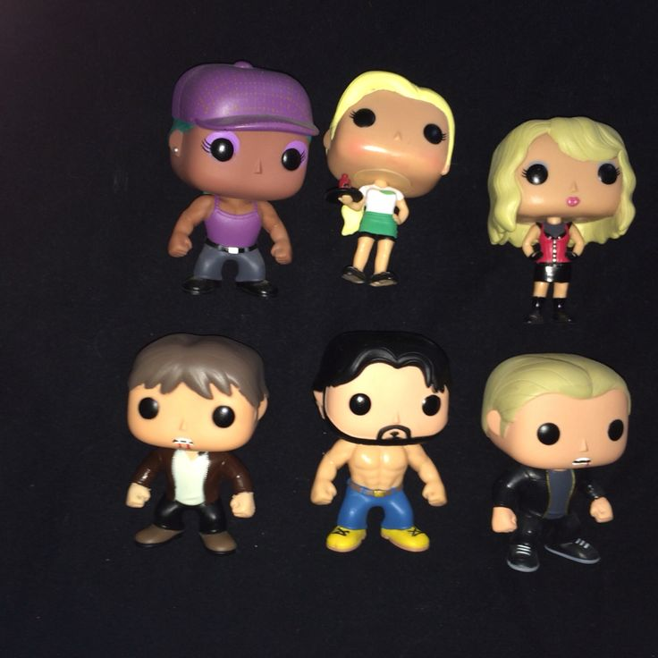 Yay I now have my full set of true blood pop vinyls from L-R : Lafayette Reynolds, Sookie Stackhouse , Pam, Bill Compton , Alcide Hervaux and Eric Northman  #TrueBlood #funkopopvinyl