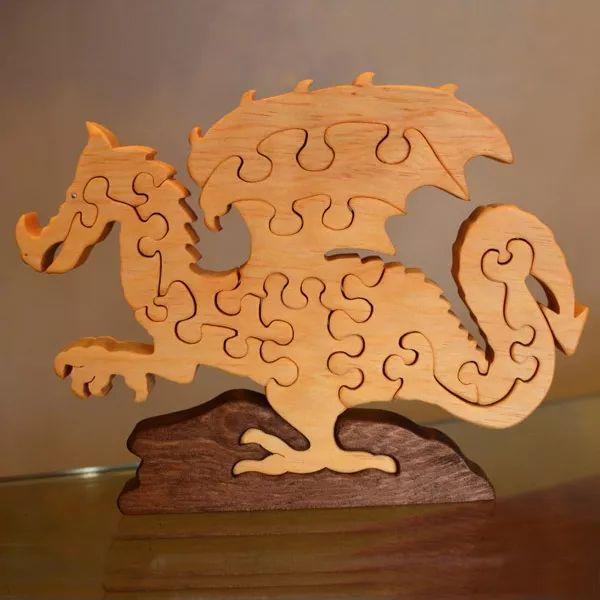 rompecabezas artesanales de madera coleccionables vbf