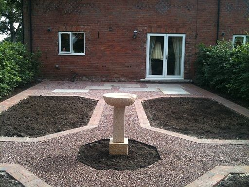 The design has a simple, strong, classical layout with correct proportions and scale for the property and size of garden www.ebgardendesign.co.uk