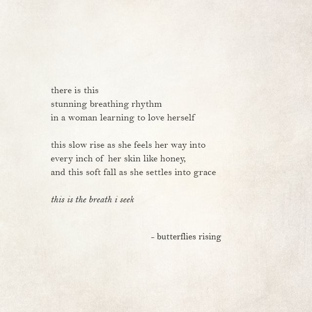 There Is This Stunning Breathing Rhythm In A Woman Learning To