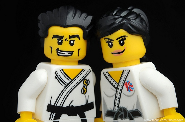 Cute Couple! - The Karate Master from Series 2 and the Judo Fighter from Team GB make a cute couple :-)