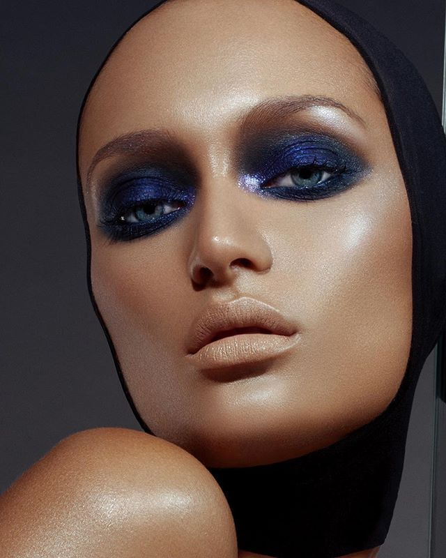 """WEBSTA @danessa_myricks ✨Majesty✨ Dangerously delicious smoked eyes pairing Danessa Myricks Beauty Metals Micro Glitter in """"Majesty with the beautiful waterproof cushion color in """"Nightwalk"""" . Makeup: @Danessa_Myricks Photo: @Danessa_Myricks Model:@iamtuesdayrosex 😍 . Skin: Vision Cream Cover N4, N6"""