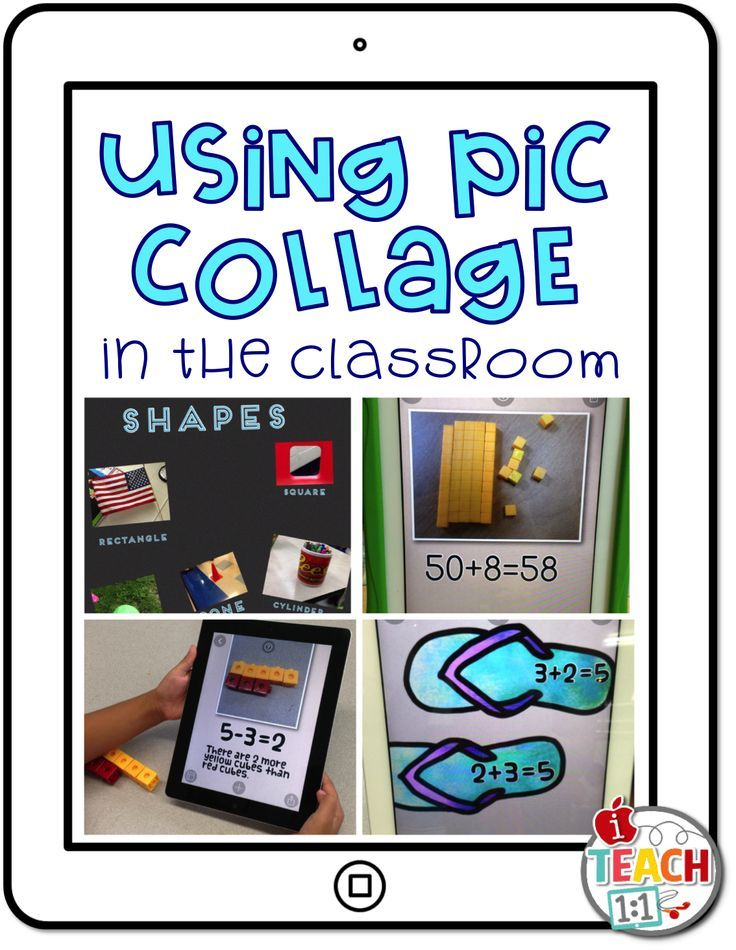 Ideas for using the free app Pic Collage in the classroom.