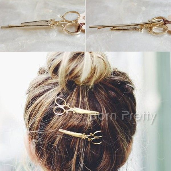 $1.99 1 Pc Scissors Shape Hair Clip Delicate Hair Pin Hair Decorations - BornPrettyStore.com