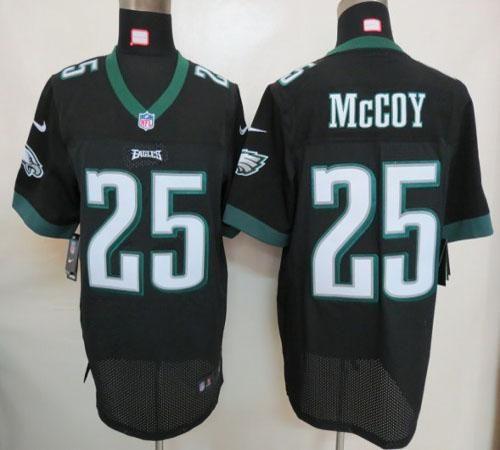 Nike Eagles #25 LeSean McCoy Black Alternate Mens NFL Elite Jersey