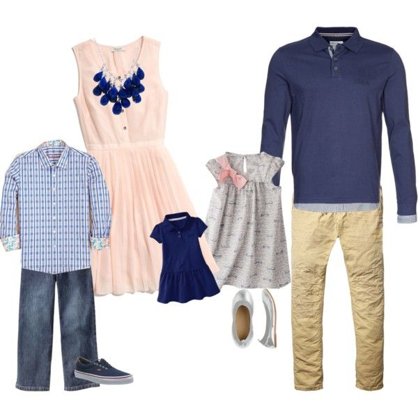 such a pretty color combination!  ||  Family Outfits