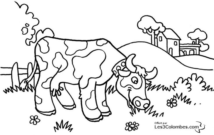 coloriage-vache