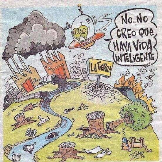 ¿Qué piensas?, ¿por qué el hombre no cuida la Tierra?, ¿qué deberíamos hacer?