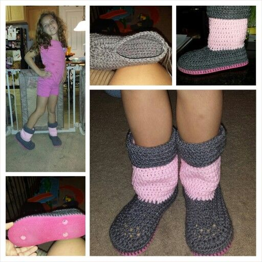 Make Your Own Ugg Boots Using An Old Flip Flop And Crochet