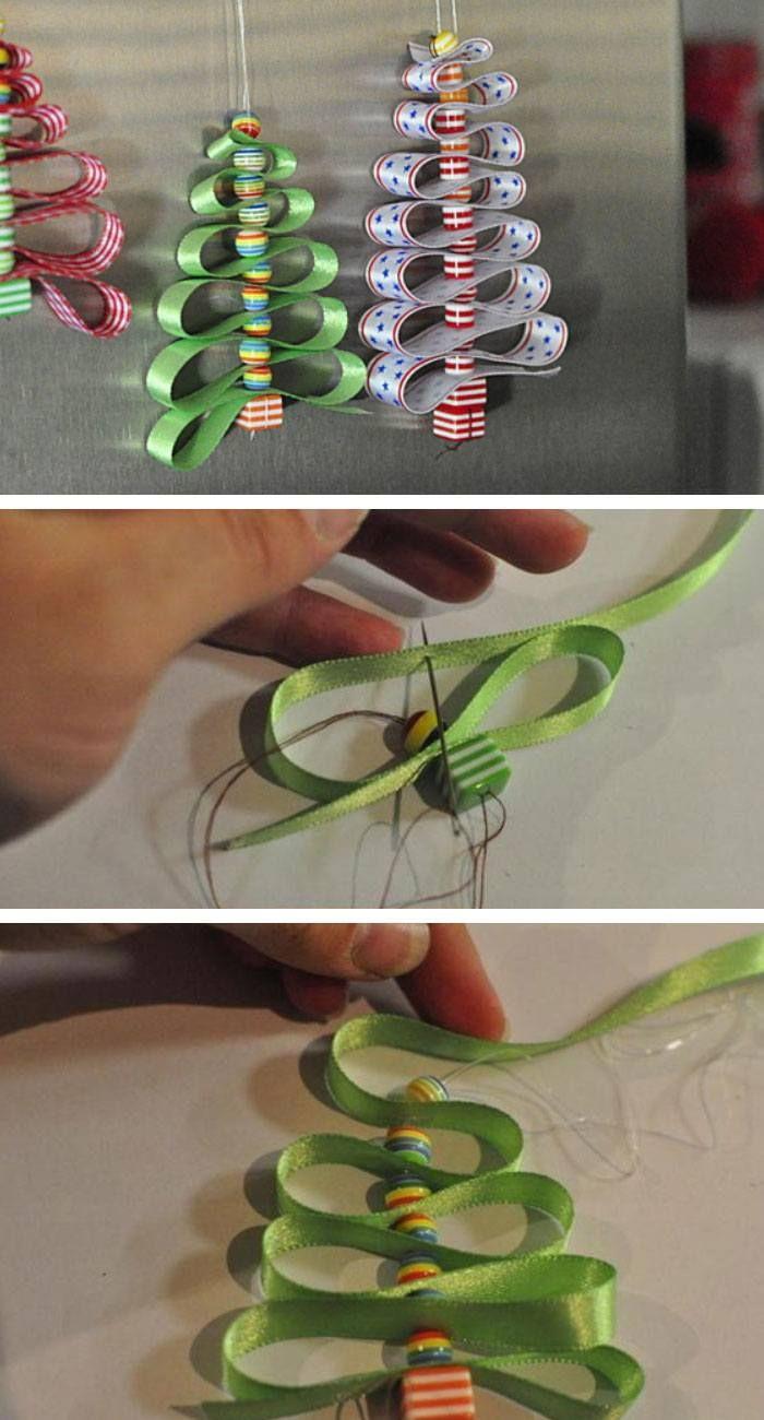 Ribbon Christmas Tree Decoration | Click Pic for 22 DIY Christmas Decor Ideas on a Budget | Last Minute Christmas Decorating Ideas for the Home